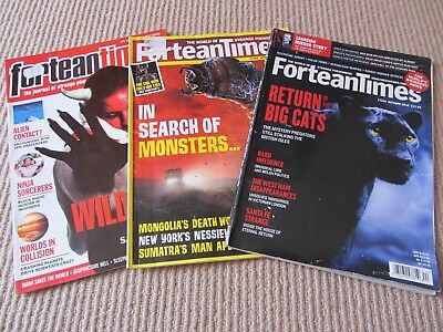 3 UK Fortean Times Magazines - October 2016 + April 2004 + January 1999