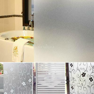 60CM x 2M Window Door Privacy Film Sticker PVC Frosted Room Bathroom Home Glass