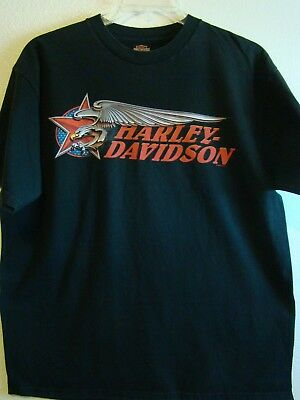 Harley Davidson Mens Black T-Shirt XL Beartooth Billings Montana Preowned