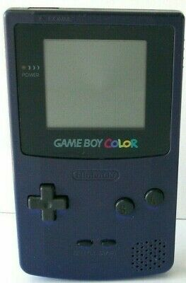 Nintendo Game Boy Color Grape Purple System With Game Tested Gameboy CGB-001