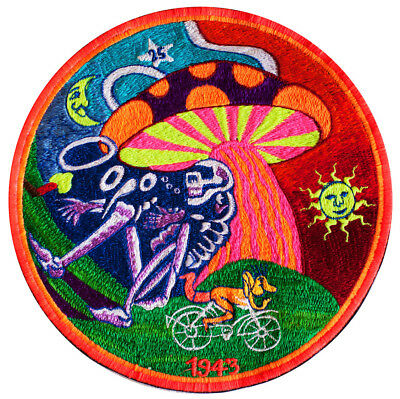 Grateful Dead Bicycle Day mushroom patch psychedelic LSD hippie Albert Hofmann