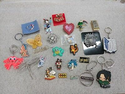 Lot Of Pins And Keychains