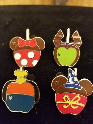 Disney Trading Pins-2015 WDW H.M. Series-Character Candy Apple Set of 4