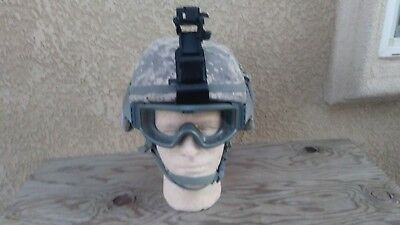 US Army Military Advanced Combat Helmet ACH  Size L w/NVG mount & goggles