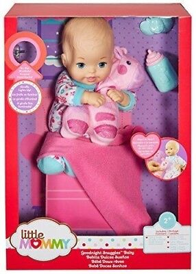 Goodnight Snuggles Little Mommy Baby Girl Doll With Toy Giraffe New