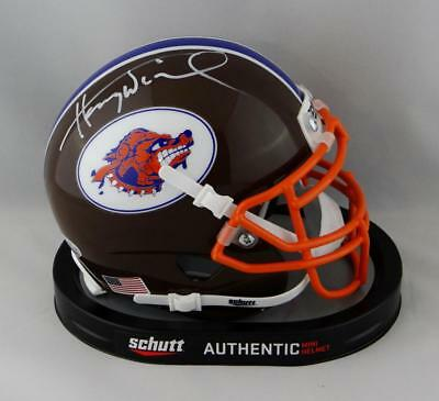 66b39f06d Henry Winkler Autographed Mud Dogs Mini Helmet from The Waterboy- Beckett  Auth