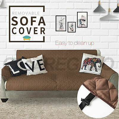 CASA Couch Sofa Cover Removable Quilted Couch Slipcover Pet Kids Protector