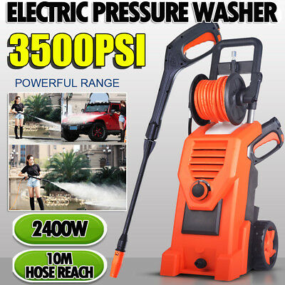 3500PSI High Pressure Water Cleaner Washer Electric Pump Hose Gurney Powerful AU