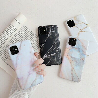 For iPhone 11 Pro 11 XS Max XR 8 7 Matte Marble Pattern Soft Silicone Case Cover