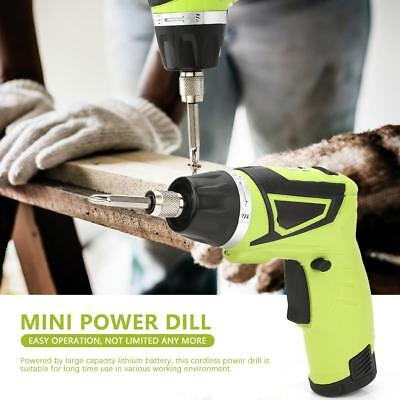 7.2V Rechargeable Electric Cordless Hand Drill Lithium Screwdriver Power Tools