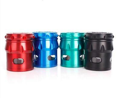 5-Piece Alloy DrumType Tobacco Herb Spice Grinder Herbal Smoke Crusher Metal