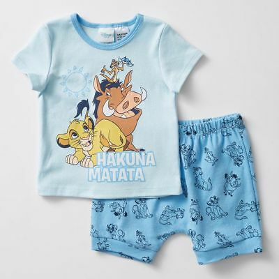 NEW Disney Baby The Lion King Short Sleeve Pyjama Set Kids