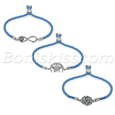 Women's Tree Of Life Infinity Moon&Star Charms Freely Adjustable Strap Bracelet