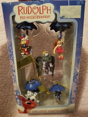 Rudolph the Red-Nosed Reindeer Mini Ornaments by Enesco Set of 5