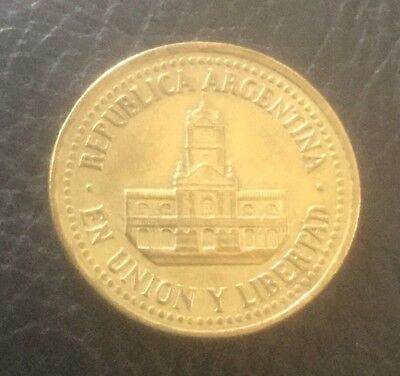 Argentina 1992 25 Centavos Coin Al/Br Circ. Collect School Project Free Au Post