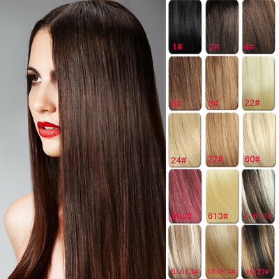 Hair Extension AAA Grade Clip in Real Human Hair Extensions Black Brown Blonde