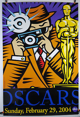 2004 Burton Morris Oscars Poster 27x40 Rolled, Double-Sided, Heavy Stock Paper
