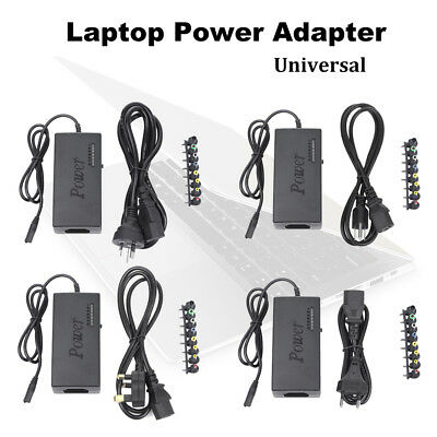 Universal Laptop Power Supply Charger Cable 12V-24V Adjustable AC/DC Adapter 96W