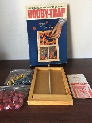 1965 Parker Brothers Booby-Trap Board Game Parts