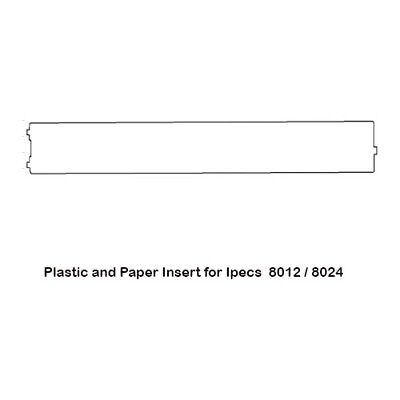 Plastic and Paper Insert for iPECS 8012 / 8024