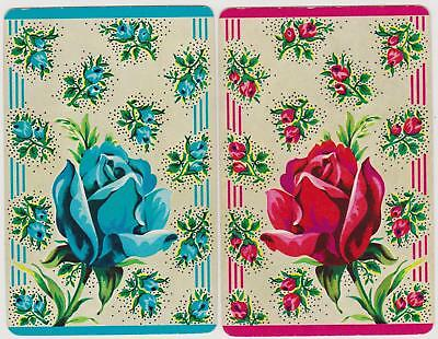 Swap/Playing Cards ~ SINGLE ROSE AND ROSEBUDS ~ Vintage Pair