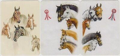 Swap/Playing Cards ~ LOTS OF BEAUTIFUL HORSE HEADS ~ Modern Wides x 3
