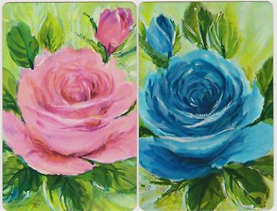 Swap/Playing Cards ~ BEAUTIFUL ROSES AND ROSEBUDS ~ Vintage Pair