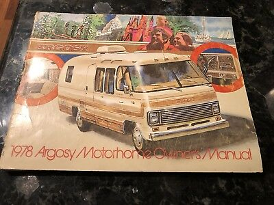 1978 Airstream Argosy owners manual