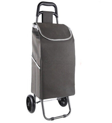 D152 Rugged Aluminium Luggage Trolley Hand Truck Folding Foldable Shopping Cart