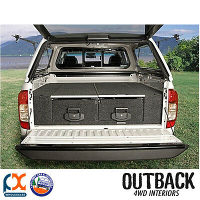 Outback 4Wd Interiors Twin Drawer Dual Roller Floor Triton Mq Dual Cab 03/15-On