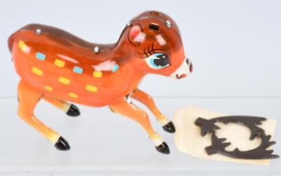 Vintage clockwork tin toy Bambi made in china with key and original box
