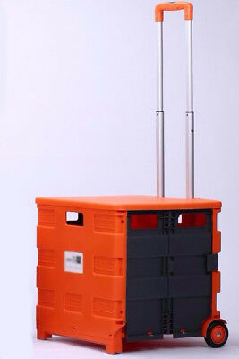 D183 Rugged Aluminium Luggage Trolley Hand Truck Folding Foldable Shopping Cart