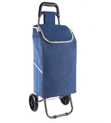 D150 Rugged Aluminium Luggage Trolley Hand Truck Folding Foldable Shopping Cart