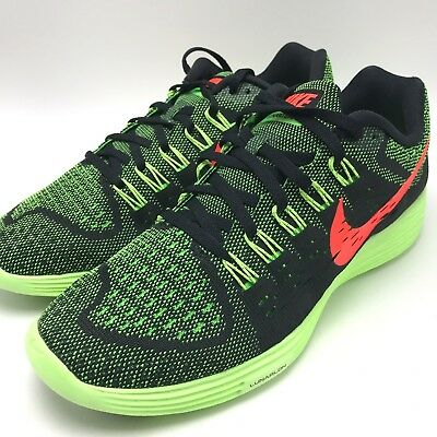separation shoes e4fb3 78c4d Nike Lunartempo Black Hyper Orange-Green Strike Men s Running Shoes  705461-006