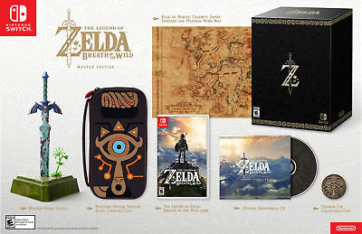 Nintendo Switch - Zelda Breath Of The Wild Master Edition- Factory Sealed! New!