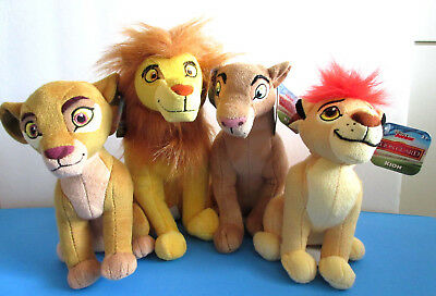 Disney Junior The Lion Guard Simba, Nala, Kion, Kiara  6 inch Mini Plush Set
