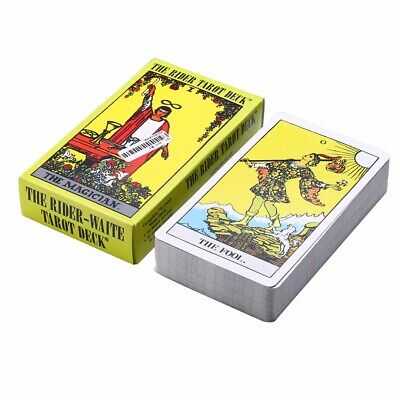 78pcs Rider Waite Tarot Deck Card English Full Version Commemorative Edition