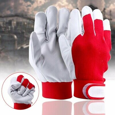 Anti Static Pigskin Leather Gloves Wear Resistant Working Repair Safe Gloves