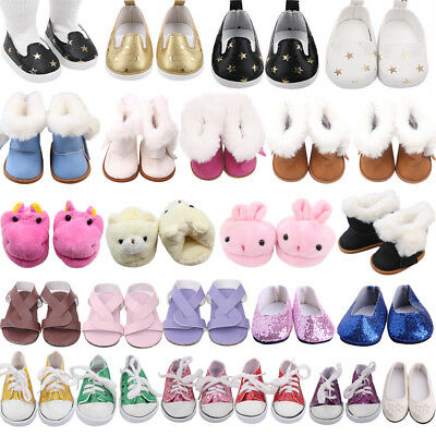 Shoes Clothes for 18Inch American Girl Our Generation Doll Toys Flat Sandal Boot