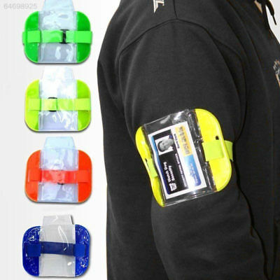 5709 6596 PVC Police Id Card Holder Waterproof High Visibility Work Arm Sleeve