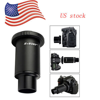 SVBONY1.25 M42 Black Thread T-Mount Adapter+Ring for Nikon DSLR/SLR Lens Adapter