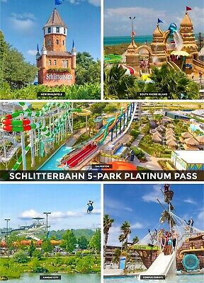 Schlitterbahn ALL TEXAS 4 PARK Platinum Season Pass Ticket Saving Promo Discount