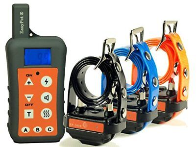 EASYPET 1200M Remote Dog Training Collar System/Rechargeable Waterproof Shock