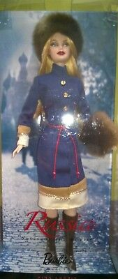 Poupée BARBIE RUSSIA doll of the world 30 years 2009 pink label R4488 nrfb