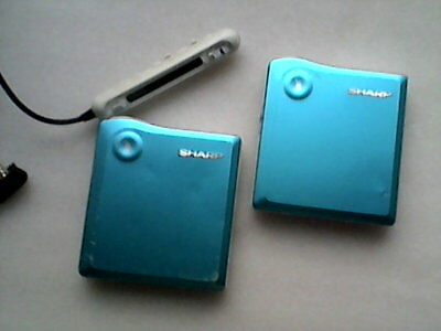 2 x Sharp MD-DS33 MDLP Minidisc Players + Remote (one working, one not)