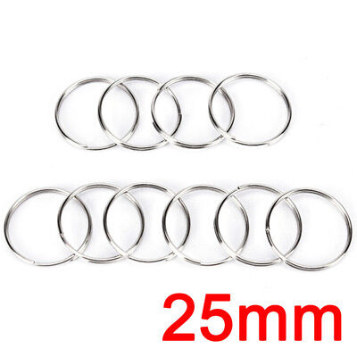 10pcs Steel Keyring Split Key Rings Nickel Hoop Ring Nickel Plated Steel Loop*L