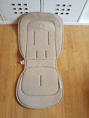 Bugaboo Bee Sand Tan Beige Seat Liner Pad Tailored Fabric