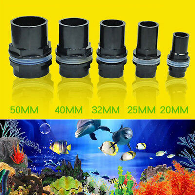 Aquarium Straight Tank Connector PVC Waterproof Pipe Joint Fish Tank Practical Z