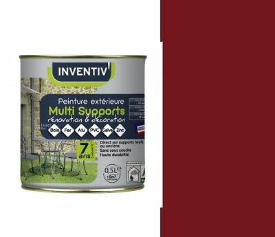 Peinture Rouge Basque 0.5L 7 Ans Multi Supports Direct Bois Fer Alu Pvc Galva