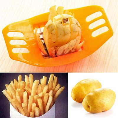 Kitchen Cooking Tool Gadgets Stainless Steel Fries Potato Slicer Chopper CRIT